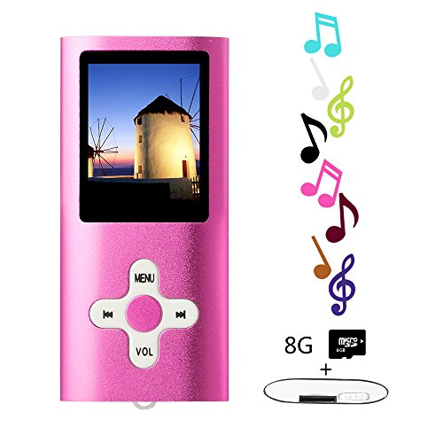 "Btopllc 8GB Mp3 Player Mp4 1.7 ""Bildschirm Musik Video Medien Pulver"