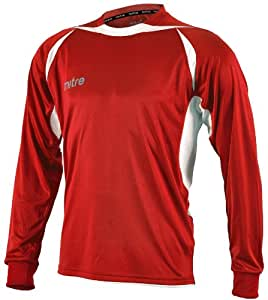 Mitre Angular Maillot de football rouge Scarlet/White Medium/28-30 Inch