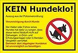 Melis Folienwerkstatt Schild - Kein Hundeklo - 45x30cm | 3mm Aluverbund – S00187-008-C -20 VAR.