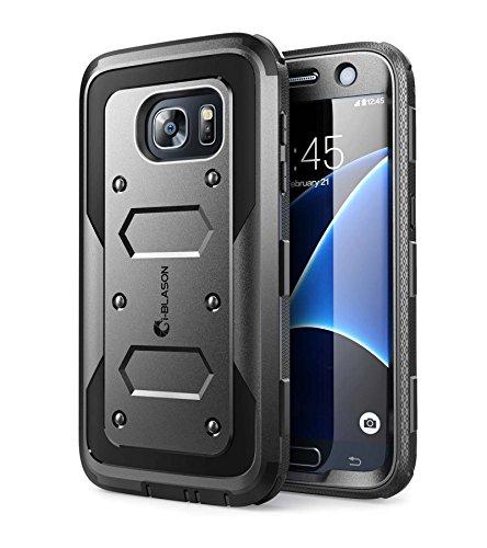 i-Blason Samsung Galaxy S7 Hülle, [Armorbox ] Outdoor Case Stoßfest Handyhülle Ganzkörper Schutzhülle Cover mit integriertem Displayschutz und 360 Grad Gürtelclip für Galaxy S7 2016 (Schwarz)