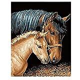 xxiaohh Puzzle per Adulti in Legno 1000 Pezzi Fai da Te Puzzle d'Arte Un Cavallo coccolone Animale Adulto Tempo Libero Creativo Cruciverba Gioco Giocattoli educativi per Bambini