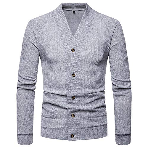 LOLIANNI Herren Blazer Formale Slim Langarm Anzug Jacke Trenchcoat Top Bluse Manner Pullover Hoodie Sweatjacke Jacke Basic Langarm Oversize Shirt Sweater Junge Strickjacke V Cardigan