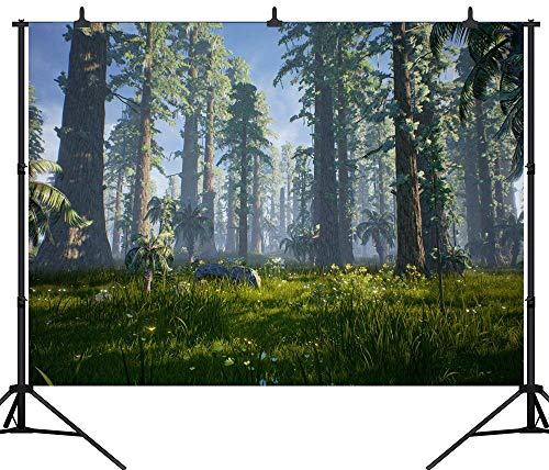 AdaCrazy PGT130A Fotohintergrund, 210 x 150 cm, 3D-Cartoon-Dinosaurier, nahtlos, Vinyl