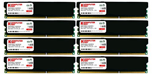 Komputerbay Speichermodul (1600MHz, CL8, HS) 64GB Black (8X 8GB) CL 9 -