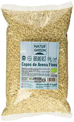 NaturGreen Copos de Avena Finos Sin Gluten Bio 1Kg - Pack de...