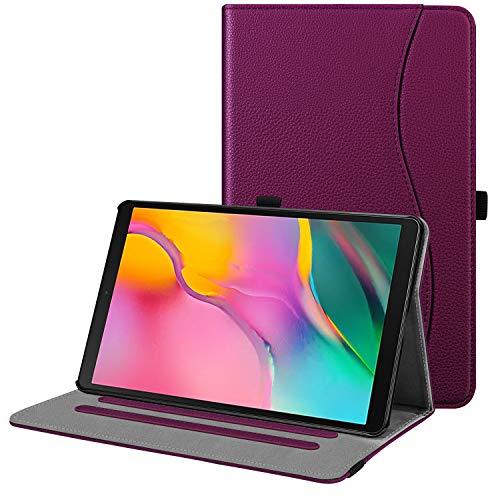 Fintie Hülle für Samsung Galaxy Tab A 10,1 2019 - Multi-Winkel Betrachtung Kunstleder Schutzhülle mit Dokumentschlitze für Samsung Tab A 10.1 Zoll SM-T510/T515 2019 Tablet, Lila