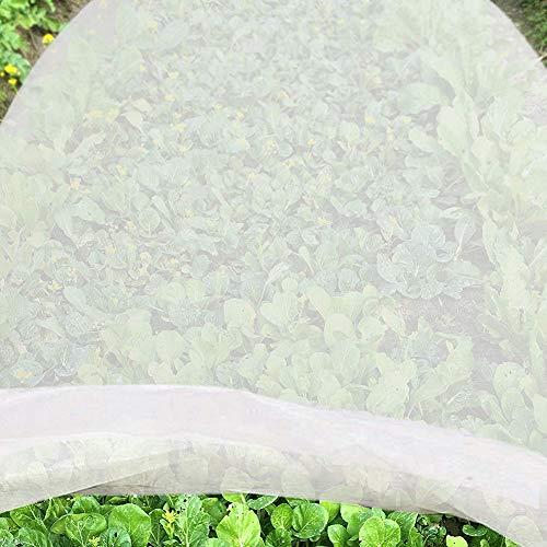 jycra - telo antigelo per piante, in tessuto non tessuto di alta qualità, riutilizzabile, per piante da giardino e verdure, tessuto non tessuto, bianco, 2 m x 10 m