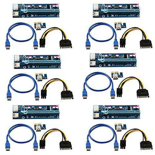 6unidades corriente 6pines PCI-E PCI Express Riser-ver