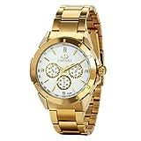 Avaner Herren-Uhr Männer Armbanduhr Luxus Gold Weiß Ton Edelstahl Quarz Analog Business Manschette Uhr Casual Dress Armbanduhr Herren