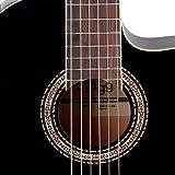 Stagg C546TCE BK Guitare électro-acoustique Classique Nylon Noire