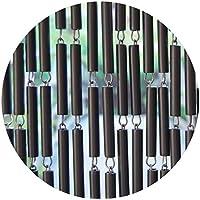Rideau de porte en polyéthylène anthracite et acier Campo 100x230 cm