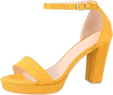 Elara Damen Pumps High Heels Chunkyrayan