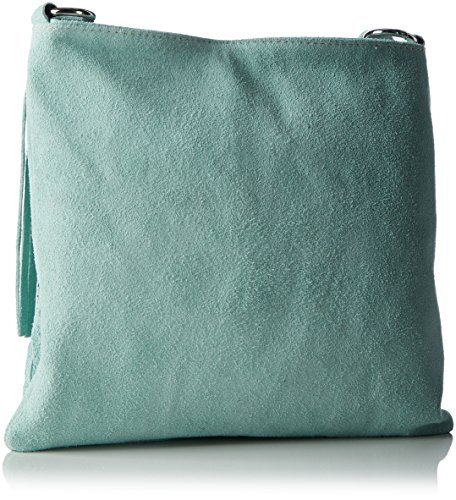 Bags4Less Shopper / A tracolla Modello: Raluca mihaela Borsa con frange / varie Colori a scelta Taglie: 30cm X 30cm X 10cm con regolabili Cinghia - sabbia, Pelle, Small, small verde menta