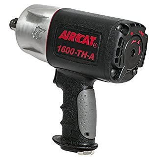 AIRCAT 1600-TH-A Composite Impact Wrench, Black, Medium
