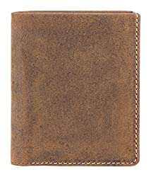 Visconti Slim Bi-Fold Oil Tan Genuine Leather Wallet For Men With RFID Protection