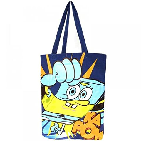 SpongeBob Squarepants 'Super Sponge' Cotton Tote Shopping Bag Summer Bag