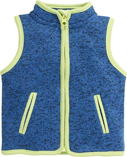 Schnizler Baby Fleece-Weste, ärmellose Unisex-Jacke für Mädchen und Jungen mit Reißverschluss und Kontrastnähten Baby Blue Weste