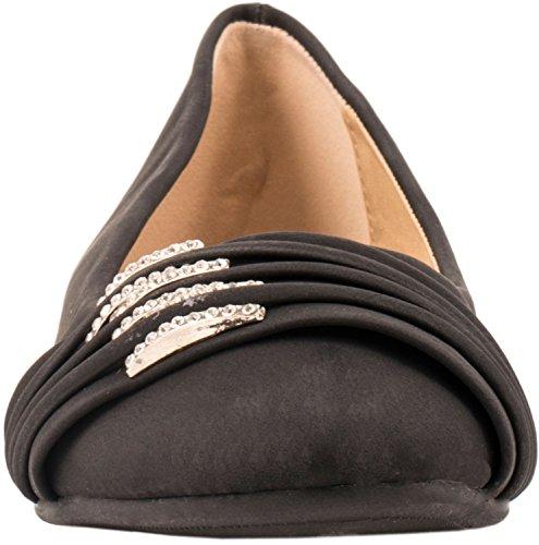 Loisirs Femmes Ballerines confortable pantoufles Chaussures Chaussures avec déco Noir
