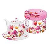 Die besten Paperproducts Design-Teekannen - PPD Aquarell Poppies & Daisies Tea-for-One-Set, Tee Kanne Bewertungen