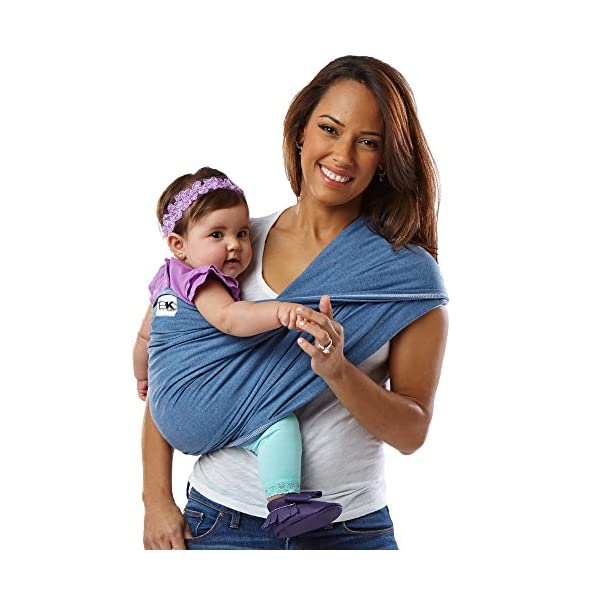 Baby K'tan Carrier Cotton (Small, Denim) Baby Ktan Easy to use and put on: NO WRAPPING INVOLVED.  6 positions to conveniently carry baby & toddlers from 8 lbs to 35 lbs 100% soft natural cotton with unique one-way stretch Unique HYBRID double-loop design holds baby securely and evenly distributes weight across back and both shoulders. Washer & dryer safe 1