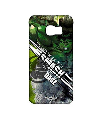 Macmerise Licensed Marvel Comics Hulk Premium Printed Back cover Case for Samsung S6 Edge