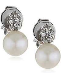 Esprit Damen-Ohrhänger Bonnet Pearl 925 Silber Zirkonia weiß Brillantschliff - ESER92762A000