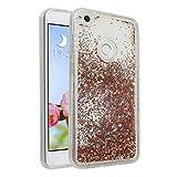 Huawei P8 Lite 2017 Flüssig Hülle, Moon mood Case für Huawei P8 Lite 2017 Durchsichtige Handyhülle 3D Creative Case Mode Bunten Transparente Kristallklaren Sparkly Silikon TPU Weich Back Handy Cover
