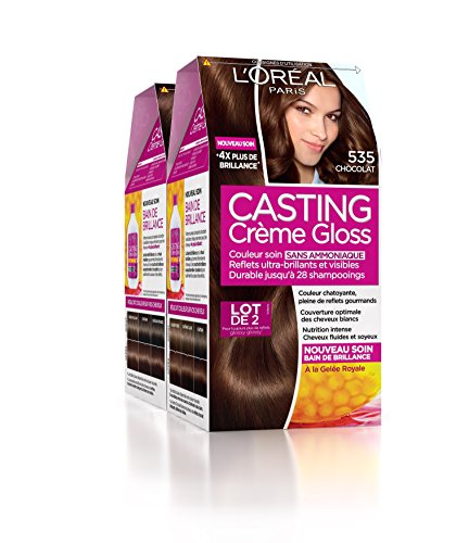 loral paris casting crme gloss coloration ton sur ton sans ammoniaque 535 chocolat lot - Coloration Ton Sur Ton Dfinition