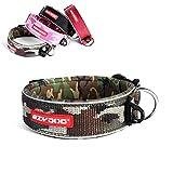 EzyDog Neo Wide - Halsband Hund breit, Hundehalsband für Große Hunde   Neopren gepolstert, reflektierend, wasserfest (L, Camo)