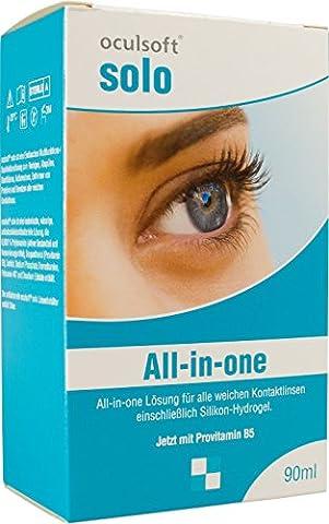 Oculsoft ® Solo All-in-One Lösung 90 ml Reiseset Pflegemittel für Kontaktlinsen (Desinfizieren Von Kontaktlinsen)