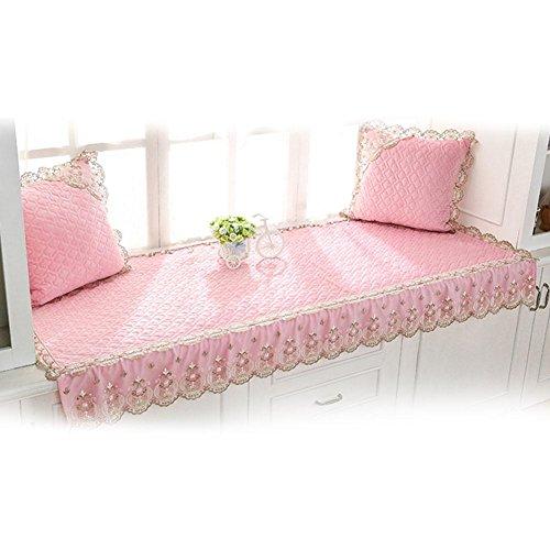 NACHEN Coussins de fenêtre de Baie de Balcon avec Le Coussin de Tatami de Windowsill Plus épais de Deux oreillers, Pink, 180 * 90cm