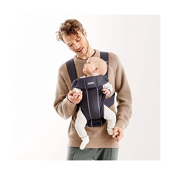 BABYBJÖRN Baby Carrier Mini, 3D Mesh, Anthracite Baby Bjorn Perfect first baby carrier for a newborn Small and easy to use 3D Mesh - Cool and airy mesh fabric, with an incredibly soft inner layer next to your newborn's skin 6