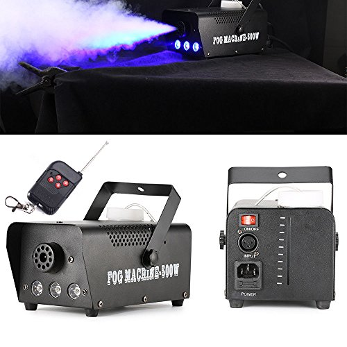 (RGB Rauch Nebel Maschine LED Licht Club Disco DJ Effekt Bühne Fernbedienung IP20)
