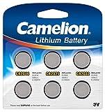 Camelion 13000600 Lithium CR Knopfzellen Set, 6-teilig silber
