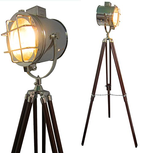 Ethnic Roots Designer Floor Lamp(Material: Iron/Glass, Color : nickel, size: 125 cms X 15cm)