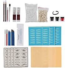 Ceja Tatuaje kit Microblading Permanente Maquillaje tinta total de 252 piezas tatuaje herramienta