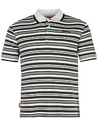 Slazenger Interlock Yarn Dye Polo pour homme Blanc/noir Top T-shirt Tee