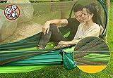 Travel Tragbare Outdoor AtmungsaktivParachute Tuch automatische Moskitonetz Hängematte, automatische Moskitonetz - Obst grüne Tinte grün Green Seil ‖ Gurt