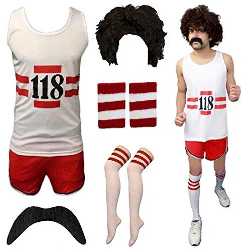 tüm Marathon Retro Weste Shorts Tash Socken Perücke (Cheerleader Outfits Für Die Kinder)