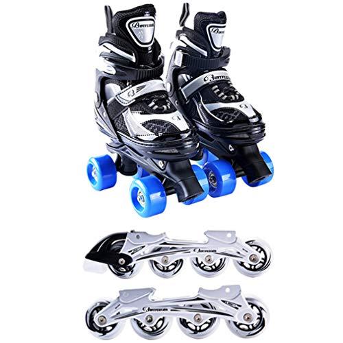 61c9bbdfa3393e Inline-Skates Kinder Inliner 4in1 Rollschuhe Jungs Mädchen Verstellbare  Schlittschuhe ABEC-7 Kugellager Größenverstellbar
