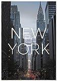Panorama Poster Coucher du Ville de New York 21 x 30 cm - Imprimée sur Poster de Grande qualité - Poster Ville - Poster Moderne pour la Maison - Décoration Murale Vintage - Photos