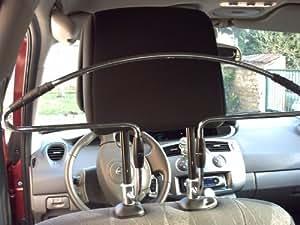 cintre de voiture porte vetement ou costume a fixer sur appui tete de voiture
