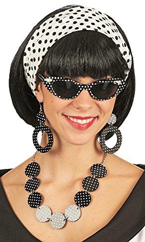 Rockabilly Schmuck Set 5-tlg. zum Fifties oder Sixties Kostüm für Damen