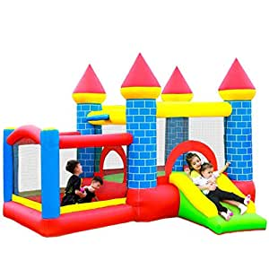 Wushuang Children's Inflatable Castle Small Amusement Park Trampoline With Air Blower For Kids