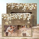 Fotoalbum Hochzeit, Luminaria 28 Seiten, 14 Blatt, Hardcover 290x222 mm personalisierbar, Braun
