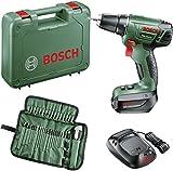 Bosch Home and Garden PSR 14 Akku-Bohrschrauber 14.4V 1.5Ah Li-Ion inkl. Akku, inkl. Zubehör, inkl.