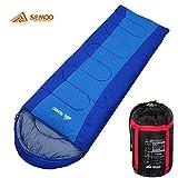 Semoo - Schlafsack - Deckenschlafsack - 3-Jahreszeiten-Schlafsack - 200 x 70 cm - Blau