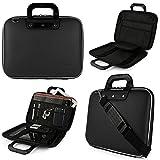 SumacLife Schutzhülle Cady Messenger Tasche für Toshiba Tecra & Satellite 39,6cm Laptops und Ultrabook schwarz jet black 39,6 cm (15,6 Zoll)