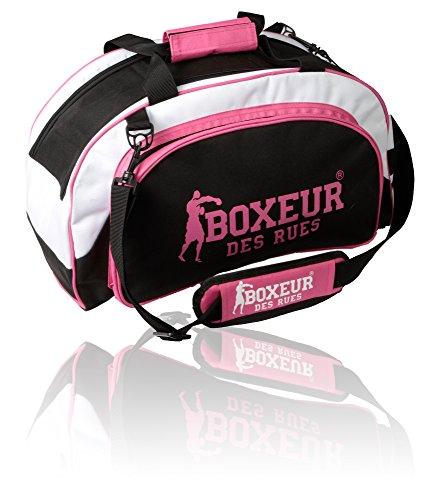 Boxeur Des Rues Fight Activewear Borsa per la Palestra con Tracolla Regolabile, Fucsia, Taglia Unica