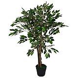 Leaf Ficus Plante Artificielle Vert 90 cm